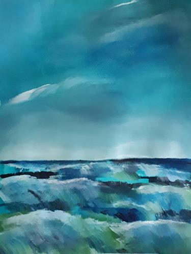 Ingeborg Schnöke, Das Meer ist voller Energie, Poesie, Abstrakte Kunst