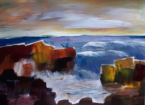 Ingeborg Schnöke, Steilküste, Poesie, Abstrakte Kunst, Expressionismus
