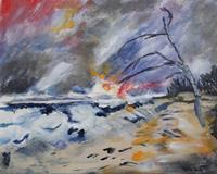 Ingeborg-Schnoeke-Landschaft-Fantasie-Moderne-Abstrakte-Kunst
