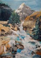 Ingeborg-Schnoeke-Landschaft-Berge-Moderne-Abstrakte-Kunst