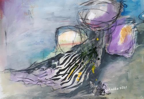 Ingeborg Schnöke, Medusa, Fantasie, Poesie, Abstrakte Kunst