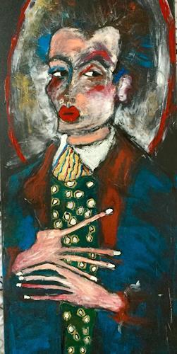 Despina Papadopoulou, Nach Egon Schiele, Diverses, Gegenwartskunst, Abstrakter Expressionismus