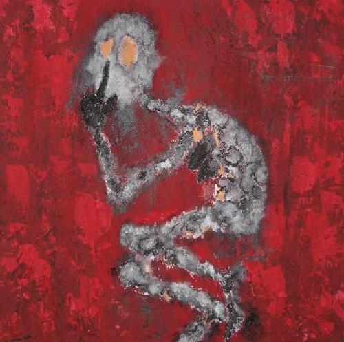 Despina Papadopoulou, - Die Stille-, Diverse Gefühle, Gegenwartskunst, Abstrakter Expressionismus