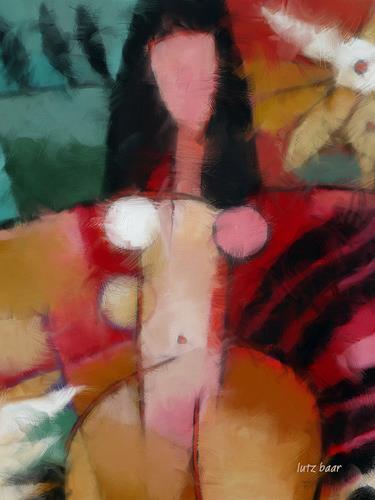 Lutz Baar, Paradise Woman, Akt/Erotik: Akt Frau, Mythologie, Neo-Expressionismus, Abstrakter Expressionismus