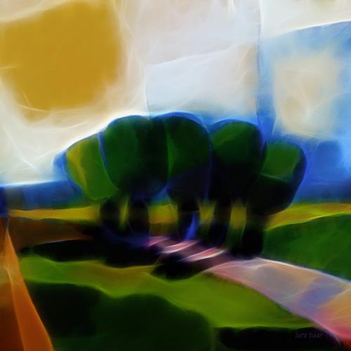 Lutz Baar, Glowing Day, Landschaft: Sommer, Abstraktes, Abstrakte Kunst, Expressionismus