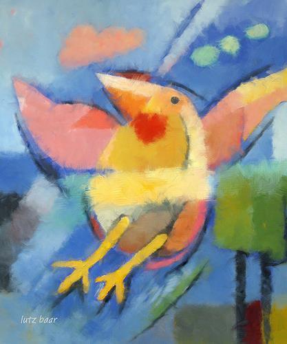 Lutz Baar, Fliegen lernen, Humor, Tiere: Luft, Neo-Impressionismus
