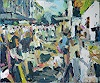 Heini Andermatt, Streetparade am Bürkliplatz, Menschen: Gruppe, Party/Feier, expressiver Realismus