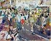 Heini Andermatt, Zürifest, Limmatquai, Menschen, Party/Feier, expressiver Realismus