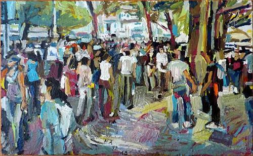 Heini Andermatt, Streetparade am Bellevue, Party/Feier, Abstrakte Kunst, Expressionismus
