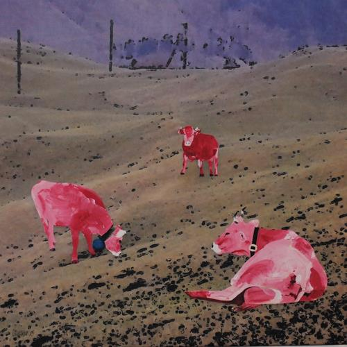 Walter Lehmann, Am Hang, Zeiten: Frühling, Tiere: Land, Abstrakte Kunst, Abstrakter Expressionismus
