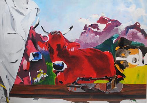 Walter Lehmann, Dachbodenfund, Tiere: Land, Abstrakte Kunst, Expressionismus