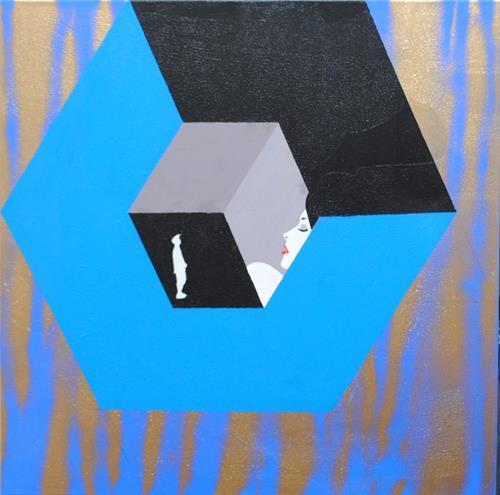 Walter Lehmann, Im Museum, Menschen, Abstrakte Kunst