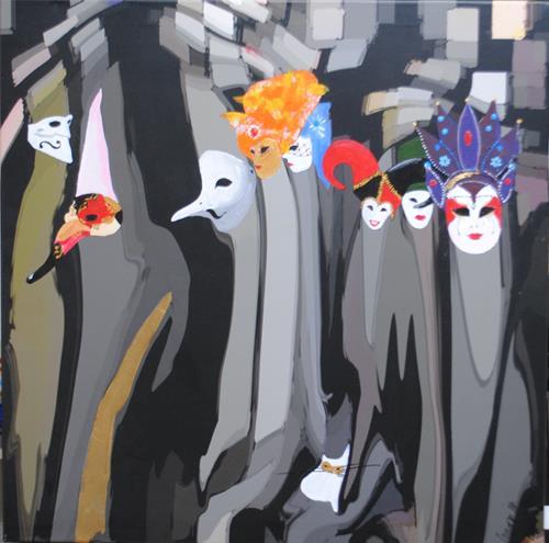 Walter Lehmann, Carnevale di Venezia, Menschen: Gruppe, Freizeit, Gegenwartskunst