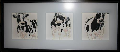 Regula Kummer, Kühe, das modelling Team/Cows, the modelling team, Natur, Gegenwartskunst