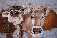 Regula Kummer, Kühe, Momo und Cassiopeia