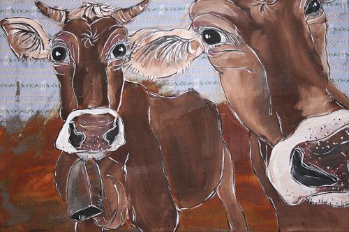 Regula Kummer, Kühe, Ellen und Portia, Tiere: Land, Gegenwartskunst