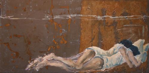 Regula Kummer, Geborgenheit, Menschen: Paare, New Image Painting, Expressionismus
