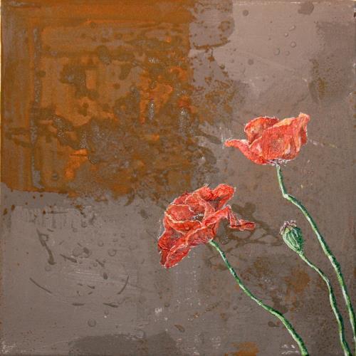 Regula Kummer, Feldblumen 4, Pflanzen: Blumen, Gegenwartskunst, Expressionismus