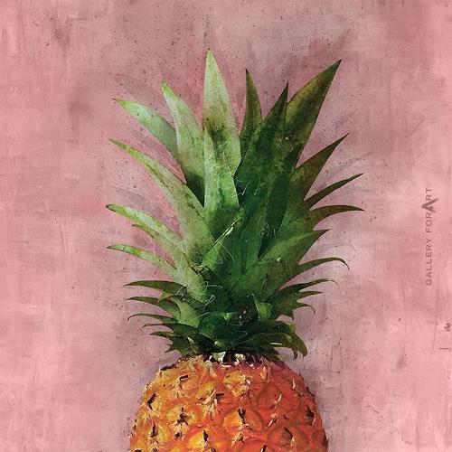 Artur Wasielewski, PINEAPPLE moreART PINK, Pflanzen: Früchte, Natur: Diverse, Realismus