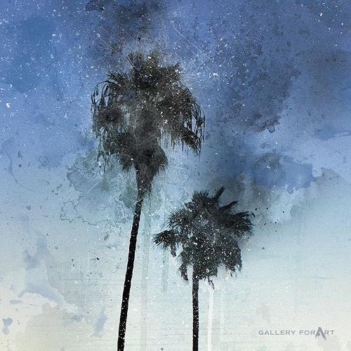 Artur Wasielewski, PALMS BEACH BOULEVARD-1, Pflanzen: Palmen, Landschaft: Tropisch, Moderne