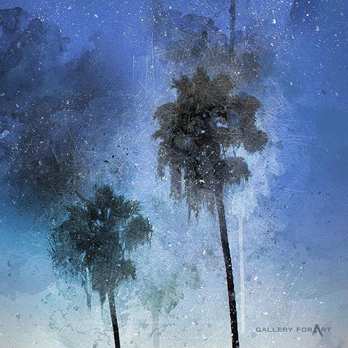 Artur Wasielewski, PALMS BEACH BOULEVARD-2, Pflanzen: Palmen, Landschaft: Tropisch, Moderne