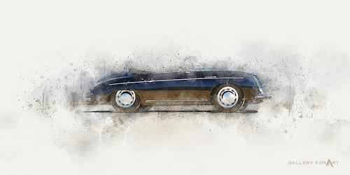Artur Wasielewski, CAR PORSCHE 356 spyder, Verkehr: Auto, Bewegung, Moderne