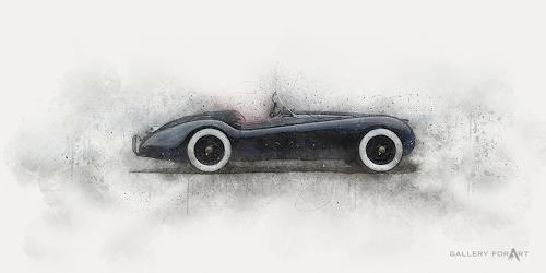 Artur Wasielewski, CAR JAGUAR XK 140, Verkehr: Auto, Bewegung, Moderne