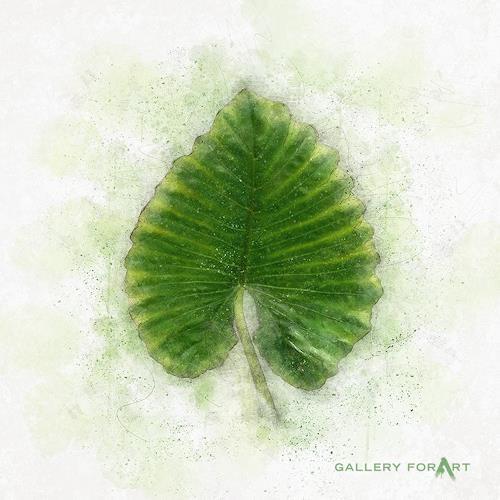 Artur Wasielewski, TROPICAL LEAF GREEN - 03, Diverse Pflanzen, Landschaft: Tropisch, Moderne