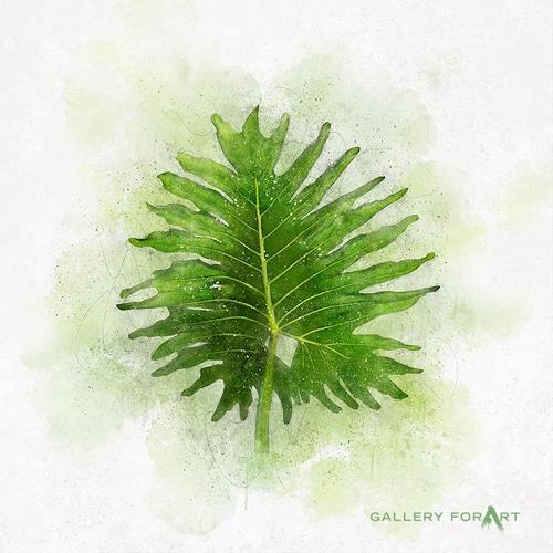 Artur Wasielewski, TROPICAL LEAF GREEN - 02, Diverse Pflanzen, Landschaft: Tropisch, Moderne