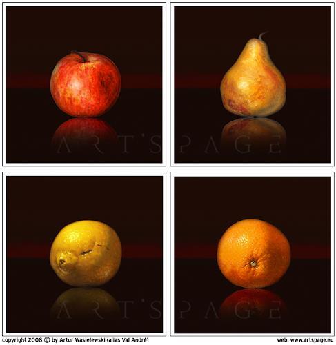 Artur Wasielewski, Black Fruit Collection, Dekoratives, Stilleben, Abstrakter Expressionismus