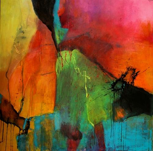 Agnes Lang, Turmalin, Abstraktes, Fantasie, Gegenwartskunst, Expressionismus