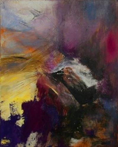 Agnes Lang, Echo, Abstraktes, Fantasie, Abstrakter Expressionismus