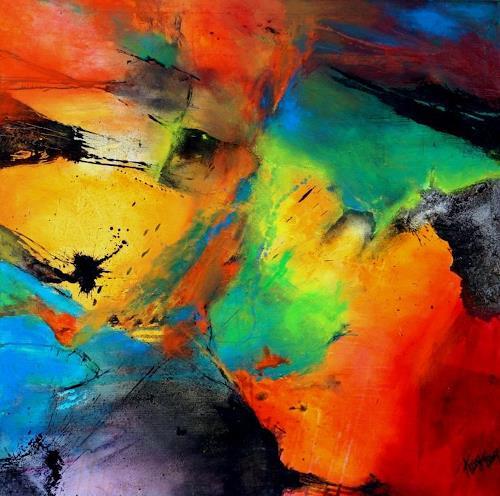 Agnes Lang, Heliotrop, Abstraktes, Abstraktes, Gegenwartskunst, Expressionismus