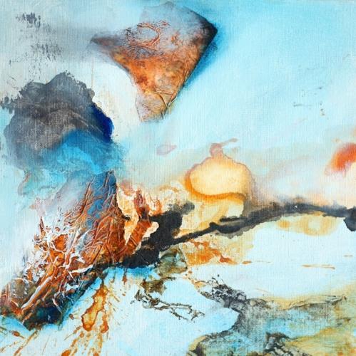 Agnes Lang, kl.Farbimpressionen ll, Diverses, Abstraktes, Gegenwartskunst