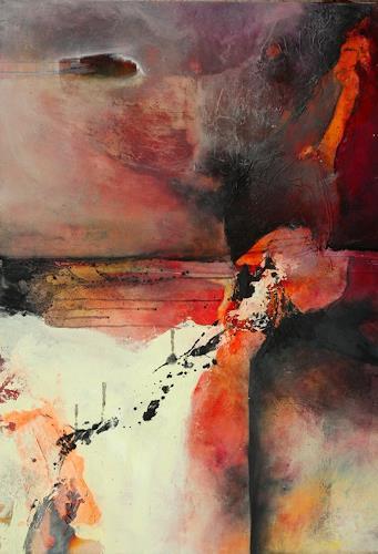 Agnes Lang, Märchenwelten ll, Landschaft: Ebene, Abstraktes, Gegenwartskunst, Expressionismus