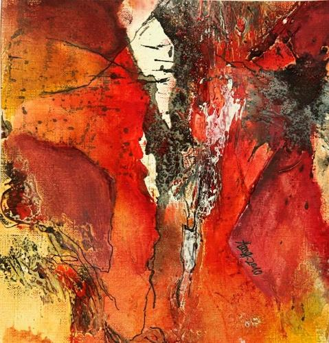 Agnes Lang, Farbe macht glücklich, Abstraktes, Gegenwartskunst, Expressionismus