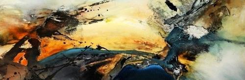 Agnes Lang, o.T., Abstraktes, Landschaft: Sommer, Gegenwartskunst
