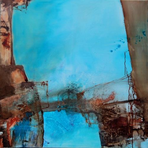 Agnes Lang, Waterworld l, Diverses, Abstraktes, Gegenwartskunst