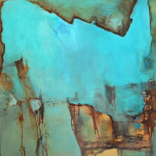 Agnes Lang, Waterworld ll, Abstraktes, Natur: Wasser, Gegenwartskunst, Expressionismus