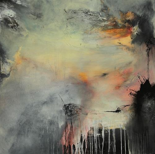 Agnes Lang, nach Regen kommmt Sonne.., Abstraktes, Fantasie, Gegenwartskunst, Expressionismus