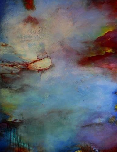 Agnes Lang, Morgendämmerung, Abstraktes, Landschaft: Ebene, Gegenwartskunst, Expressionismus