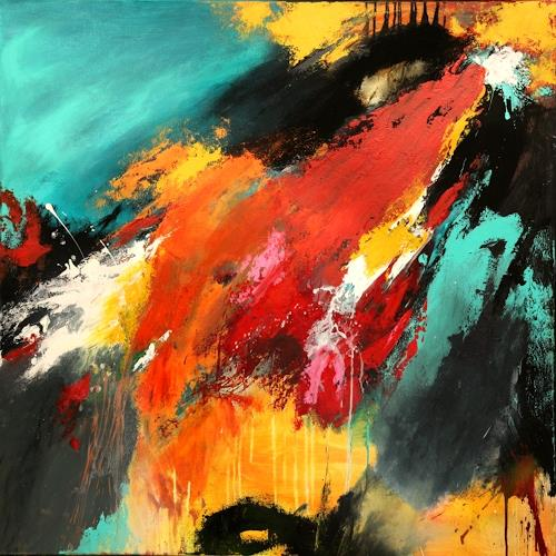 Agnes Lang, Summer V, Abstraktes, Bewegung, Gegenwartskunst, Abstrakter Expressionismus
