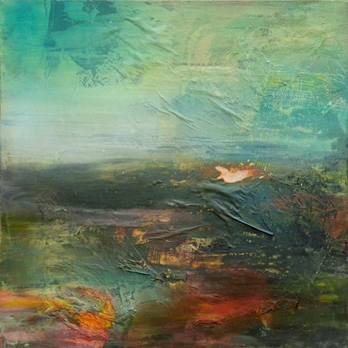 Agnes Lang, Horizont lll, Abstraktes, Landschaft: Herbst, Gegenwartskunst, Abstrakter Expressionismus