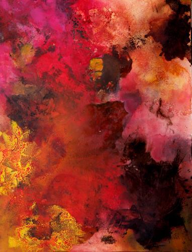 Agnes Lang, Excursionen rot l, Abstraktes, Diverses, Informel