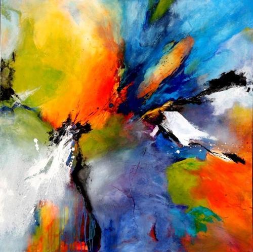 Agnes Lang, Summertime, Abstraktes, Diverses, Gegenwartskunst