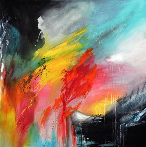Agnes Lang, Summer l, Abstraktes, Fantasie