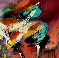 Agnes-Lang-Bewegung-Abstraktes-Moderne-Abstrakte-Kunst-Informel