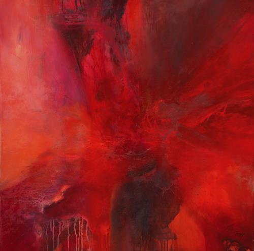 Agnes Lang, Rubia, Abstraktes, Natur: Feuer, Gegenwartskunst