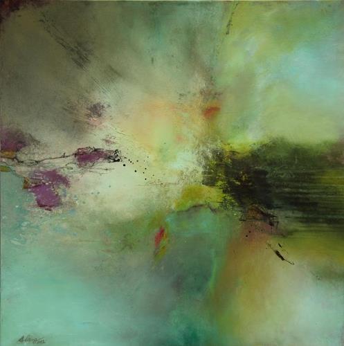 Agnes Lang, Chlorella, Abstraktes, Fantasie, Gegenwartskunst, Expressionismus