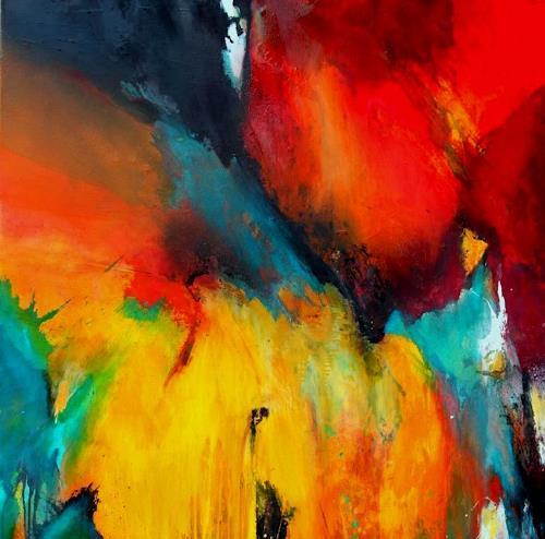 Agnes Lang, Hochstimmung, Abstraktes, Diverses, Gegenwartskunst